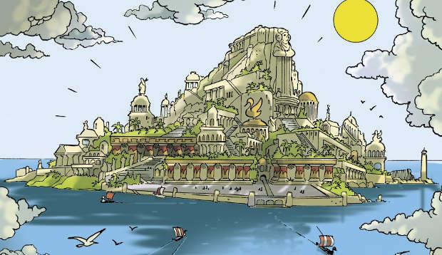 L'isola di Esperia secondo Casty
