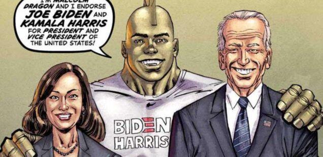 Biden, Harris e il fumetto