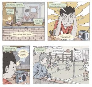 Una vignetta di Sospeso, di Salati e Barducci