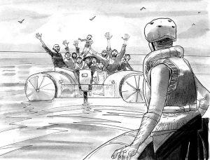 Una vignetta di Salvezza, di Rizzo e Bonaccorso