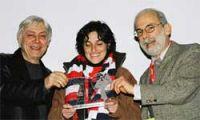Premiazione di Mabel Morri, con Manara e Giardino
