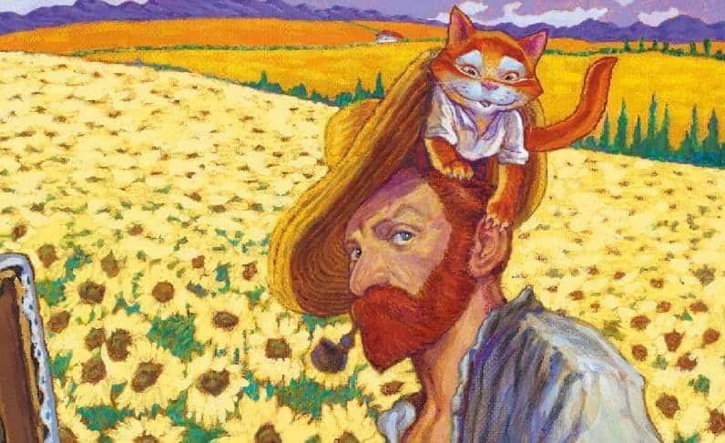 Vincent e Van Gogh: pittura e fumetto unite da un gatto
