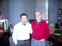 Davide Occhicone con Joe Kubert