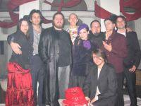 Una foto di gruppo durante il live
