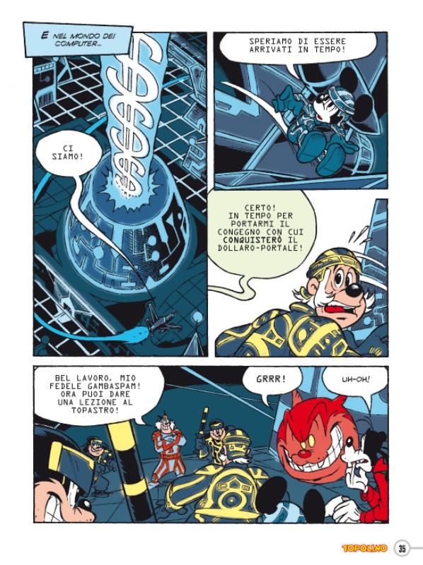"""Il settimanale Topolino celebra """"Tron: Legacy"""" con una storia a fumetti!"""