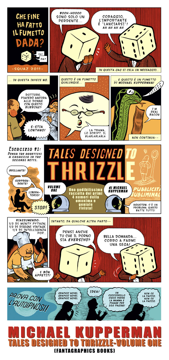 "Squaz: ""Tales designed to thrizzle"" di Michael Kupperman"