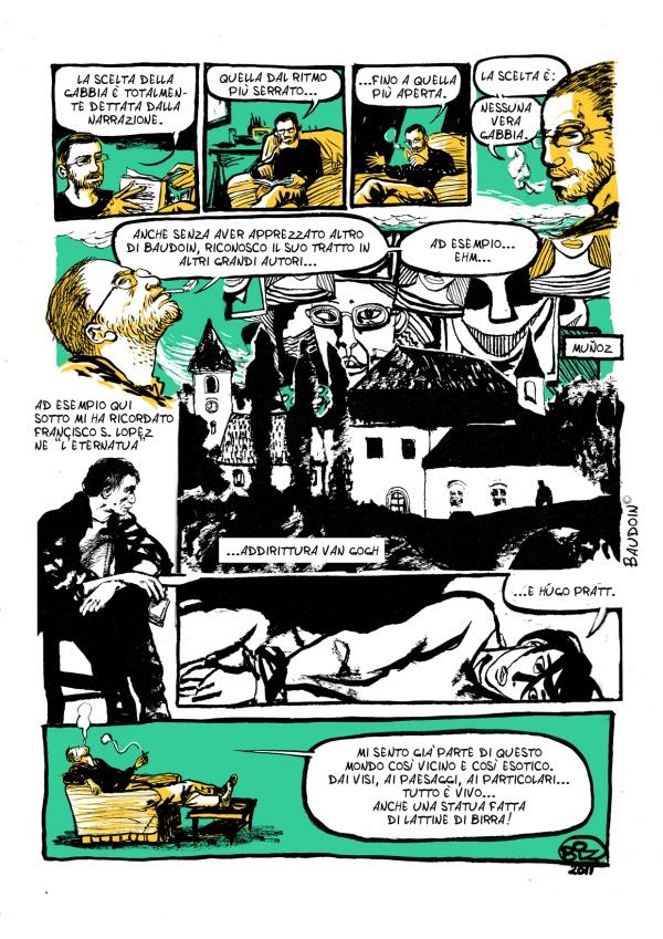 Vincenzo Bizzarri, recensione A FUMETTI de I quattro fiumi