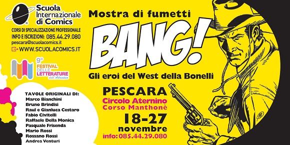 La Scuola Internazionale di Comics di Pescara dedica una mostra a Tex: BANG!