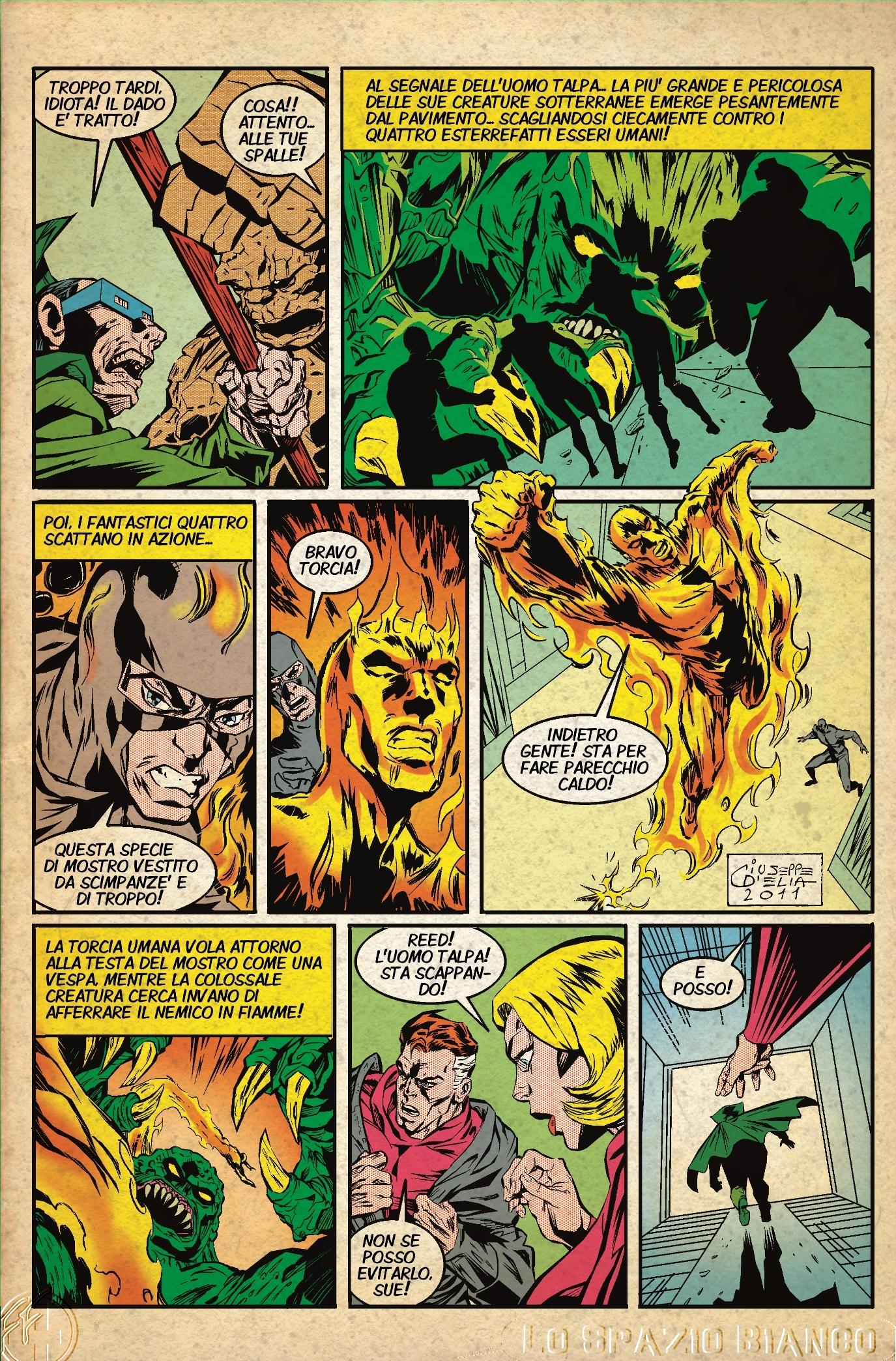 Fantastici Quattro (Mole Man 2) Pagina 5 (Giuseppe D'Elia)