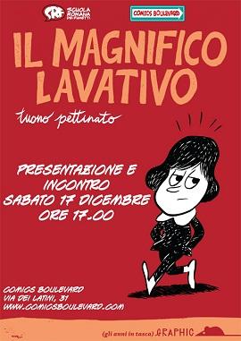 """Comics Boulevard ospita Tuono Pettinato e il suo """"Magnifico Lavativo"""""""