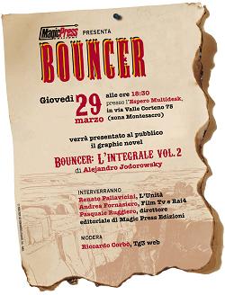 Giovedì 29 presentazione del secondo volume di Bouncer: L'Integrale di Alejandro Jodorowsky