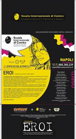 Napoli COMICON, Scuola Internazionale di Comics e GG Studio presentano la nuova mostra Eroi
