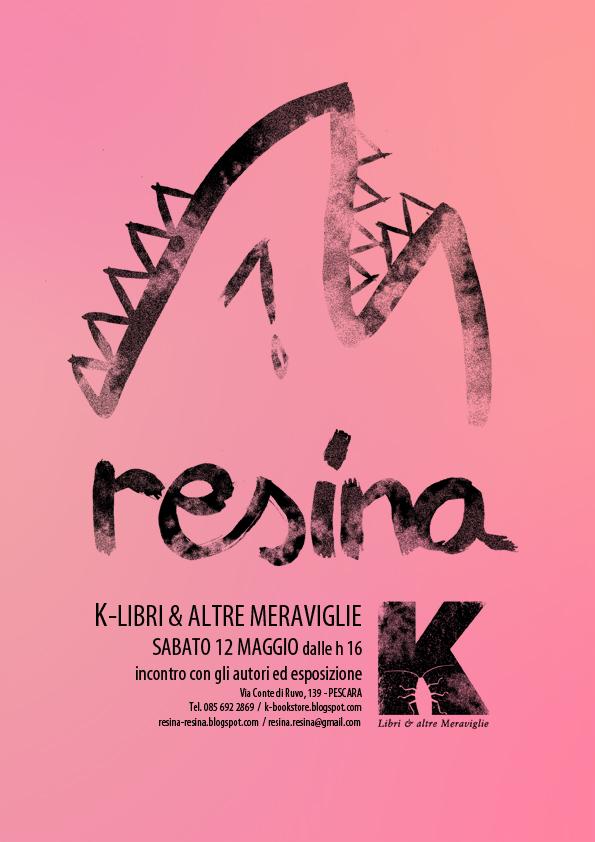 Resina arriva alla libreria K, Libri & altre Meraviglie di Pescara
