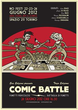 Eris Edizioni e Nofest! annunciano la terza edizione della Comic Battle