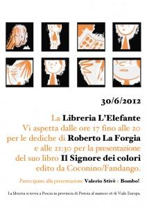 ROBERTO LA FORGIA presenta Il Signore dei Colori - Libreria L'elefante, Pescia (PT)