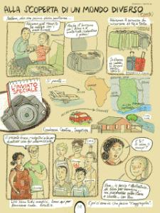 """""""Alla scoperta di un mondo diverso"""": graphic journalism dal Ghana per Mirella Mariani"""