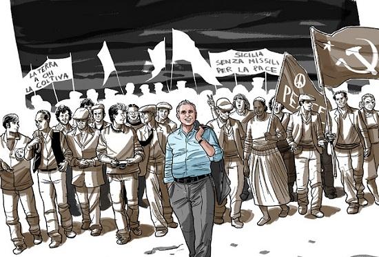 La Marcia di Pio - Storia a Fumetti di Pio La Torre è un fumetto scaricabile gratis