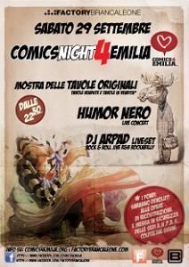 Una mostra e un concerto grazie a Comics4Emilia