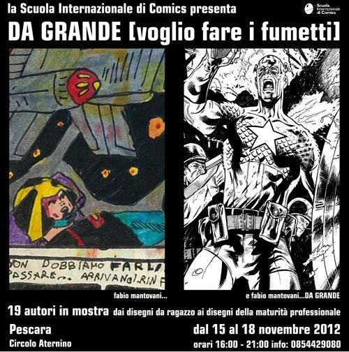 """Al X festival delle letterature dell'Adriatico la mostra """"Da grande [voglio fare i fumetti]"""""""