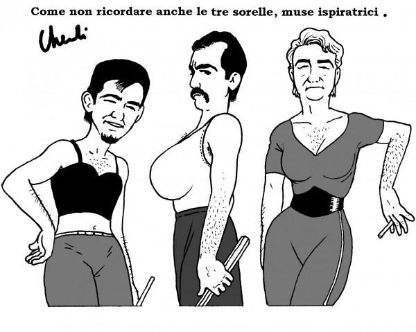 """Love and Rockets: """"le tre muse ispiratrici"""" di Walter Chendi_Omaggi"""