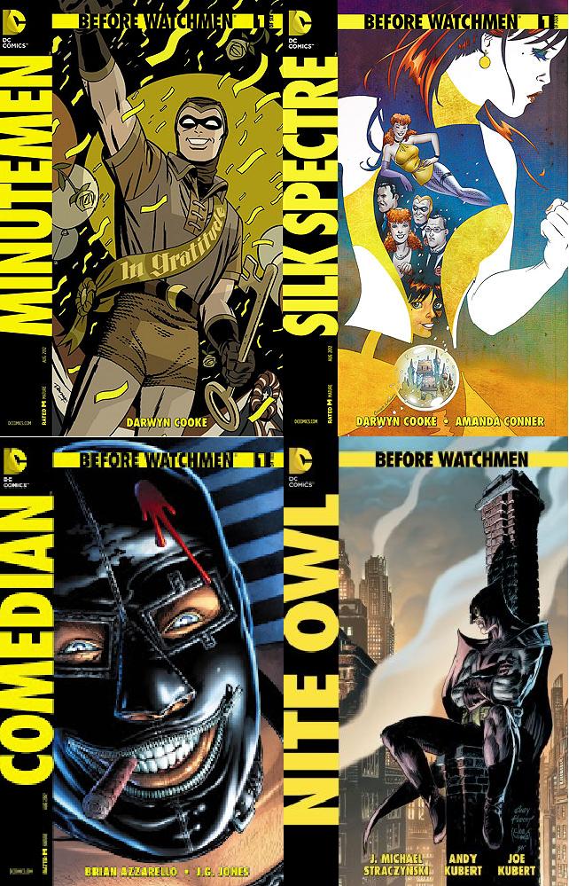 Watchmen senza Alan Moore: Before Watchmen, un'analisi delle prime uscite