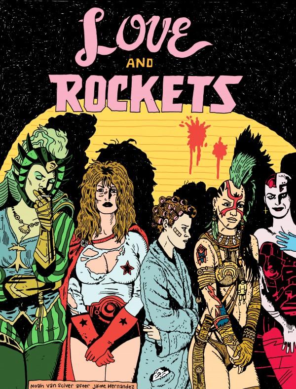 Omaggio a Love and Rockets: la prima copertina interpretata da Noah Van Sciver