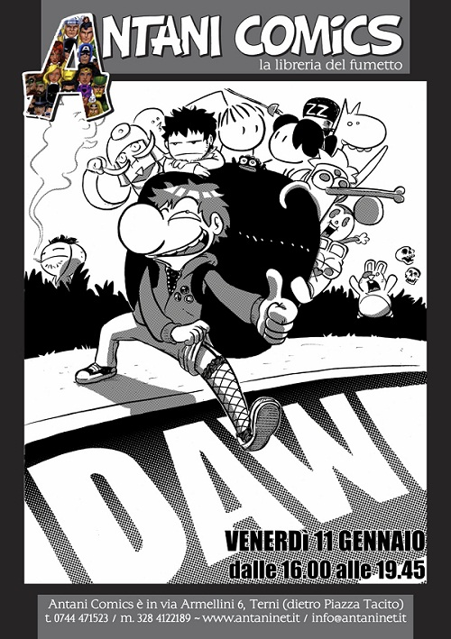 11/01/2013 – Daw (A Come Ignoranza) ospite a Terni da Antani Comics