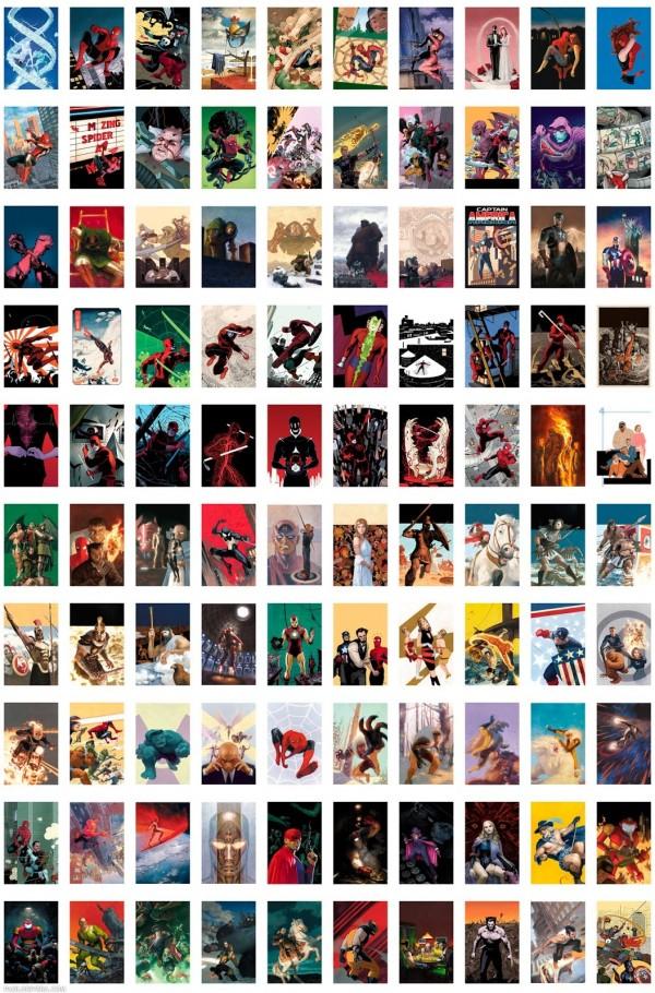 100 copertine Marvel da Paolo Rivera (clicca per ingrandire)