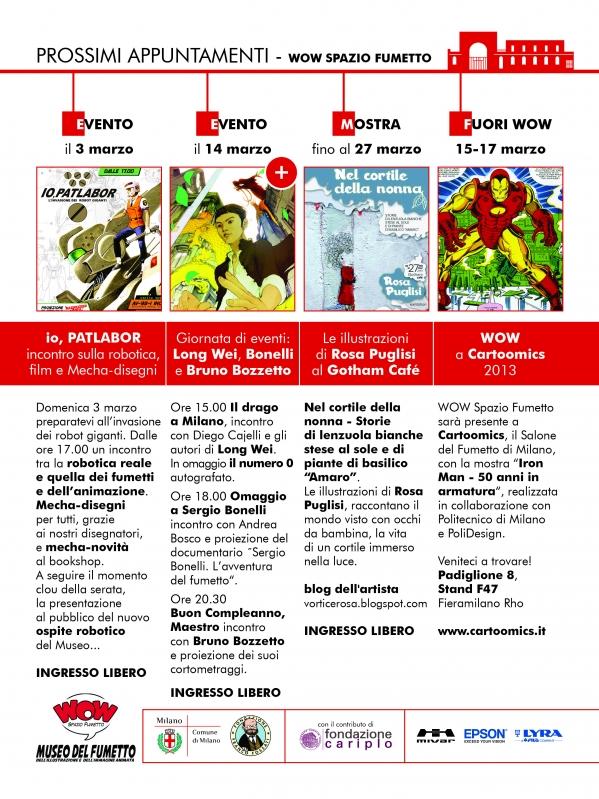Tutti gli appuntamenti di marzo del Wow Spazio Fumetto di Milano