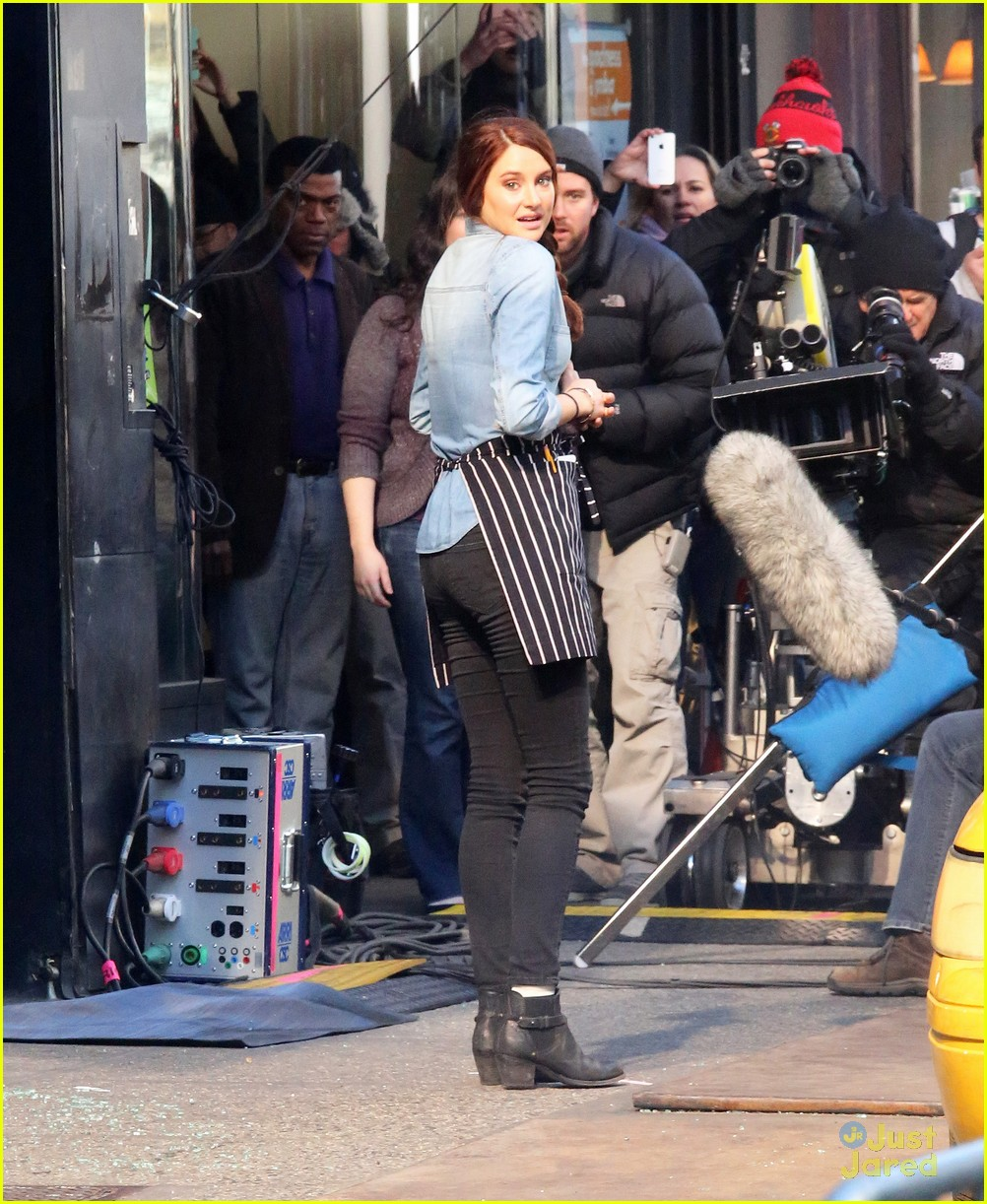 Shailene Woodley on the movie set of 'The Amazing Spider-Man 2' in NYC