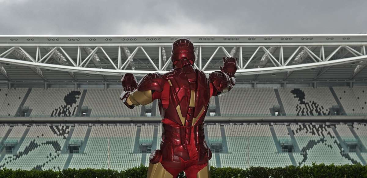 Iron Man Prova Juventus Stadium.