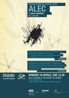 Venerdì 19 aprile Eddie Campbell alla Scuola Italiana di Comix