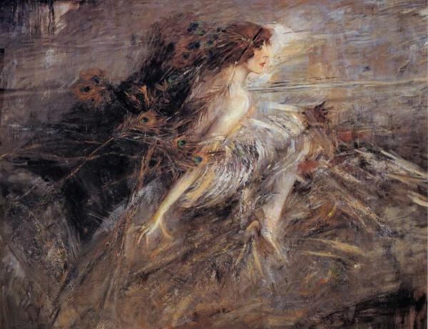 La marchesa Luisa Casati con penne di pavone (Giovanni Boldini)
