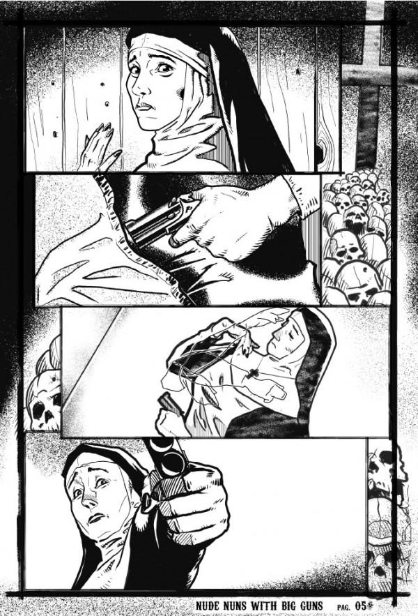 Nude Nuns with Big Guns #1, pg. 5