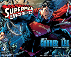 Rivelato il logo della nuova testata di Snyder e Lee, Superman Unchained
