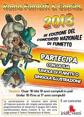Terza edizione per il Concorso nazionale del fumetto promosso da Roma Fumetti & Cartoons