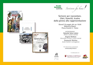 """Giovedì 16 maggio a Roma l'incontro sulla scrittura creativa """"Scrivere per raccontare"""""""