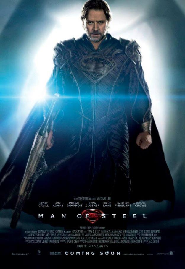 Man of Steel: character poster di Jor-El