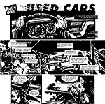 """Ventitreesimo episodio di Rusty Dogs: """"Used cars"""", disegnato da Davide Pascutti"""
