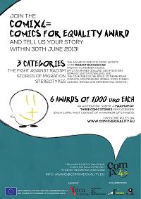 Primo premio europeo per il miglior fumetto inedito di artista migrante: ComiX4= Comics for Equality