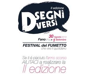 """Dal 30 agosto la seconda edizione di """"Disegni Diversi, Festival del fumetto che vive il quotidiano"""""""
