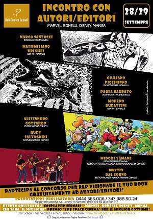 "Dalì Comics School invita all'evento: ""Incontro con Autori/Editori - Marvel, Bonelli, Disney, Manga"""