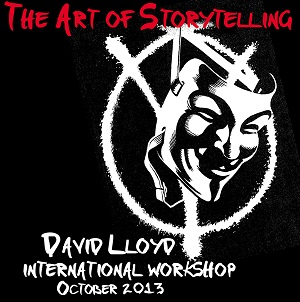"ComicOut presenta: ""W for Worshop"", primo workshop internazionale online di fumetto tenuto da David Lloyd"