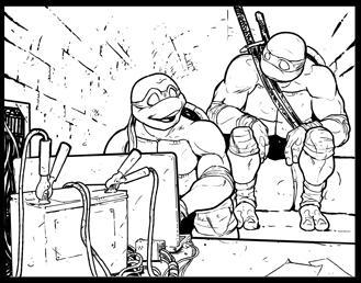 TMNT vignetta by Schiti