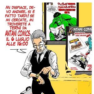 Sabato 6 luglio, Antani Comics ospita Pino Rinaldi