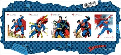 Superman: le immagini dei francobolli per i 75 anni