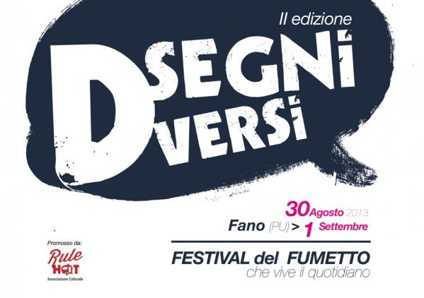 """Ospiti e iniziative della seconda edizione di """"Disegni Diversi. Festival del Fumetto che vive il quotidiano"""""""