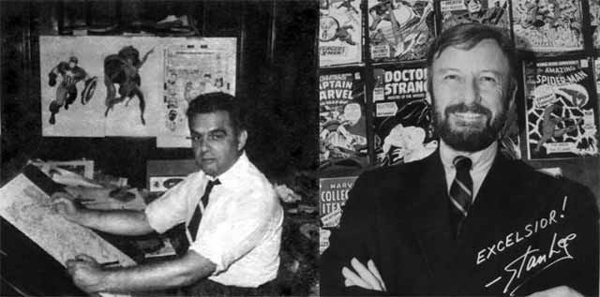 "Da sinistra: Jack ""The King"" Kirby e Stan ""The Man"" Lee"