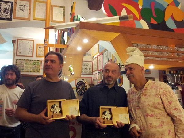 """Mostra Internazionale dei Cartoonists: consegnati i premi """"U Giancu"""" e la targa de """"La Buona Comunicazione"""""""
