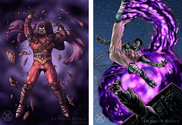 Magneto e Nightcrawler di Walter Trono. Per vedere tutti gli altri X-omaggi cliccate sulla foto